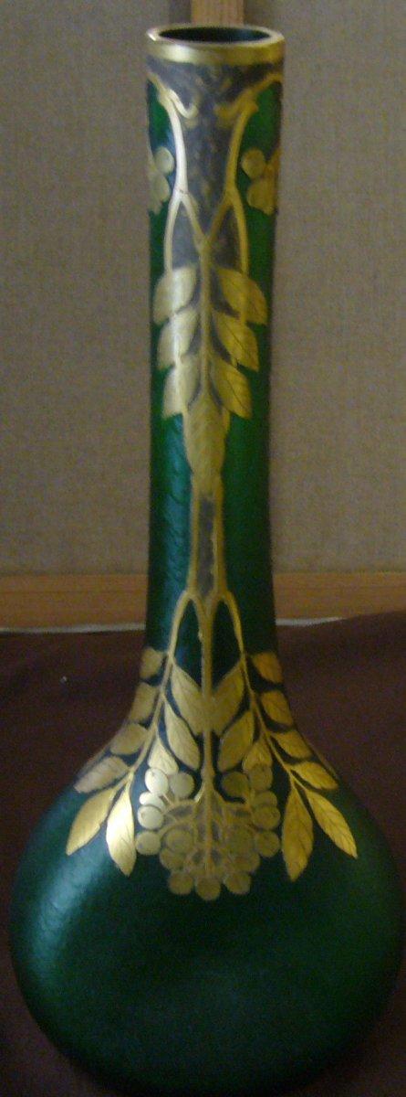 Vase En Verre Givré