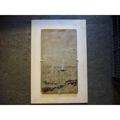 Plaque Céramique  Les Voiliers  Sur La Mer
