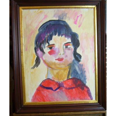 La Petite Fille Au Chemisier Rouge  Joelle Gainon
