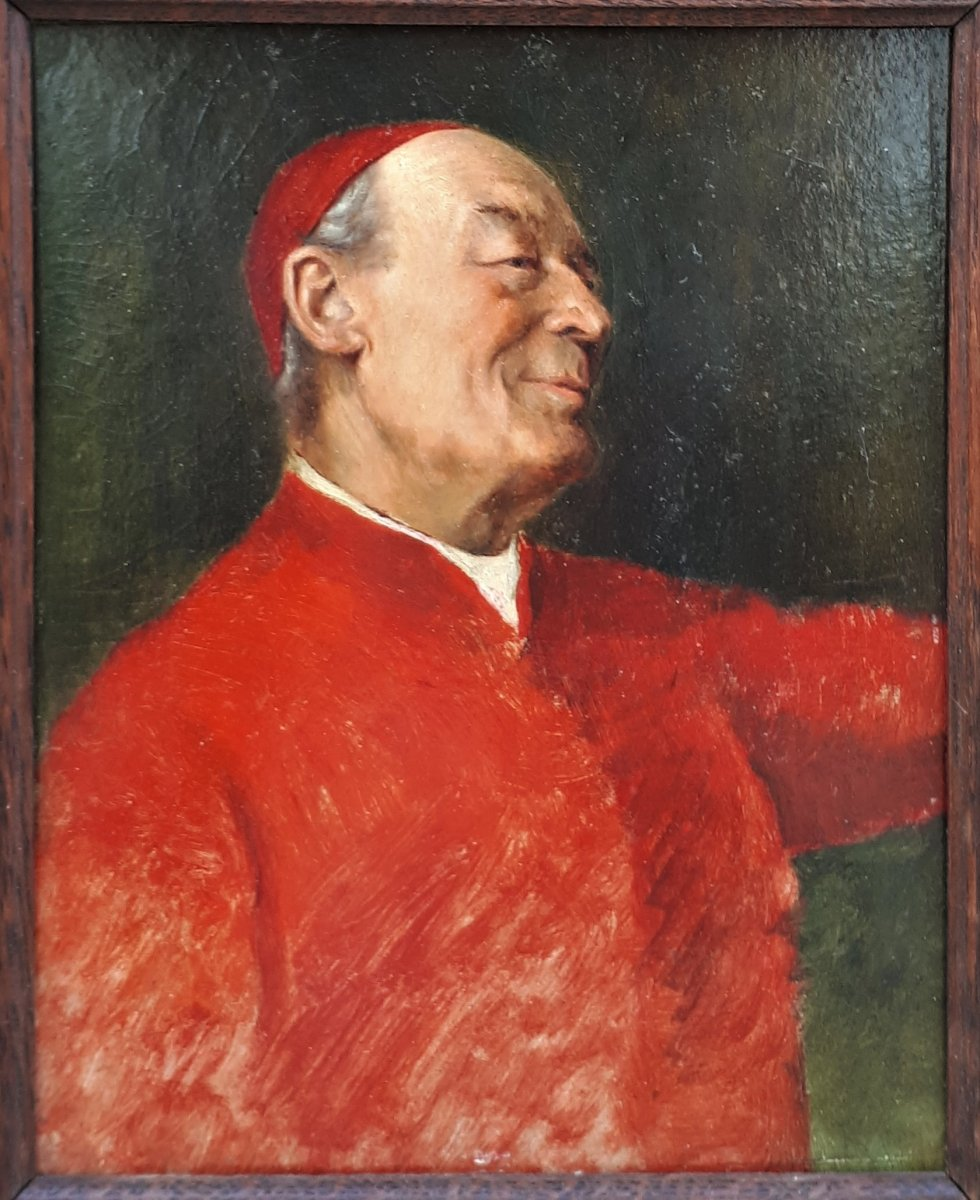 Brunery François- Portrait Of Cardinal- Late 19th Or Early 20th Century