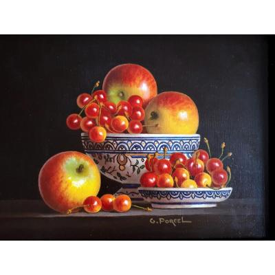 Porcel Georges (1931-2012) - Cherries And Apples -