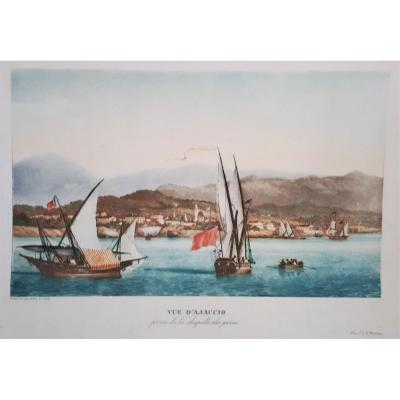 View Of Ajaccio, In 1830 By Garneray, Taken From The Chapel Of The Greeks.
