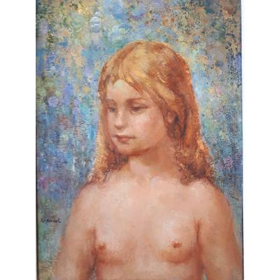 VASSAL Jean - Jeune Fille en Buste - XXe