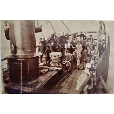 WEST Alfred John - Passagers d'Un Steamer - Vers 1900 - Signé