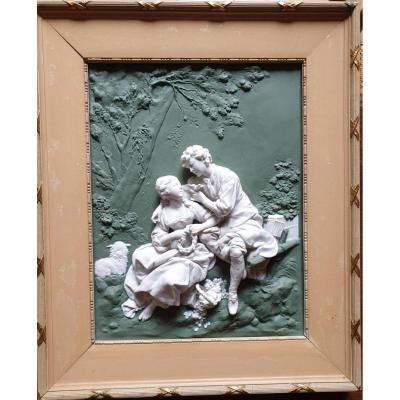 Plaque Biscuit Porcelaine - Reproduction Du Tableau