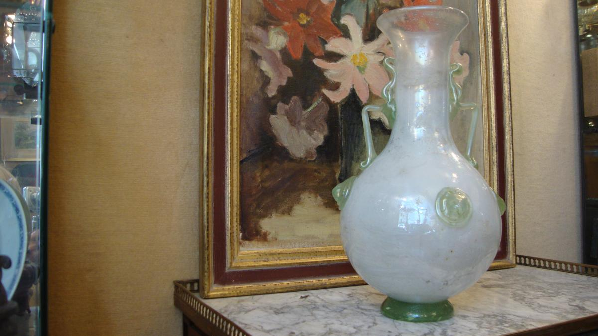 Vase verre irisé style Gallo Romain