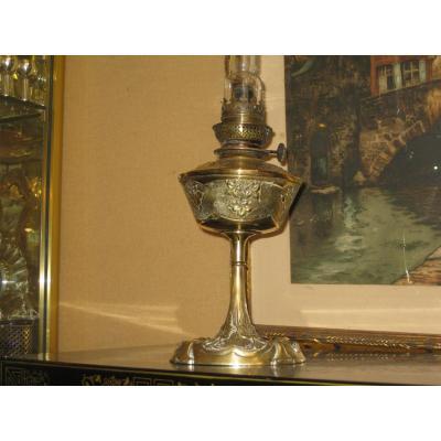 Oil Lamp Art Nouveau