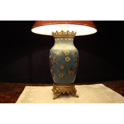 Vase Chine émaux Cloisonnés