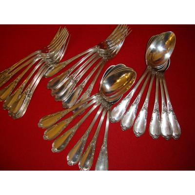 12 Cutlery Sterling Silver Louis XV Style