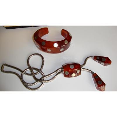 Collier Et Bracelet Art Déco