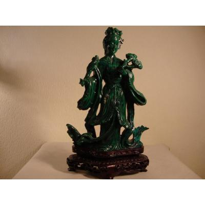 Sculpture En Malachite