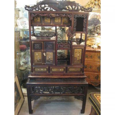 Autre meuble ancien sur proantic autre style for Meuble japonais acajou