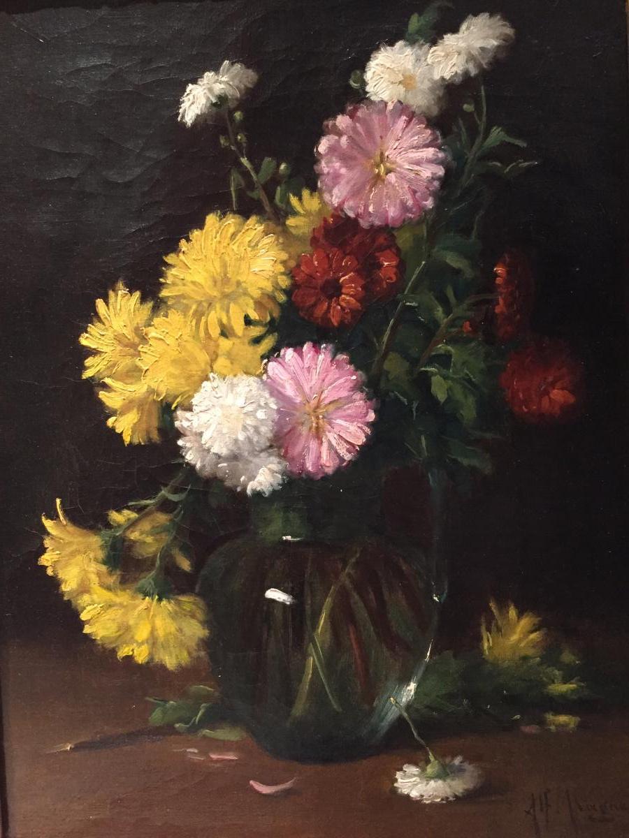 Alfred Magne (1855-1936) - Nature Morte Aux Fleurs / Peinture Française