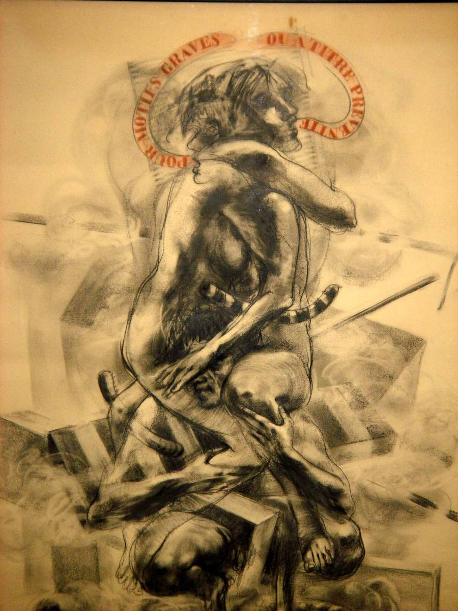 Julio Zapata (1932-2001) - For Serious Motives ... / Pencil Drawing