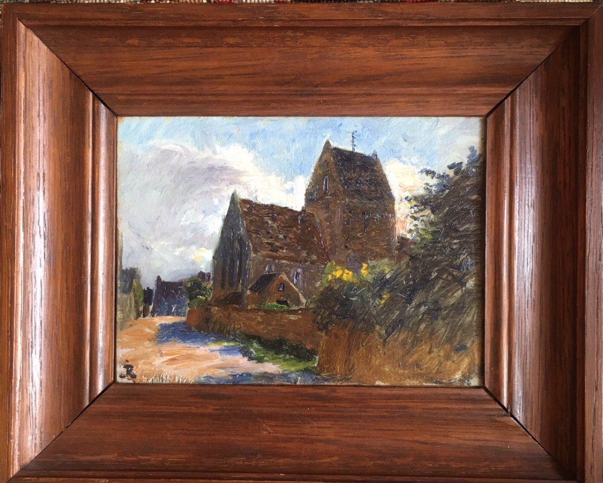 Jules-louis Rame (ouézy 1855 - Ouézy 1927) - Church In Cotentin (normandy)