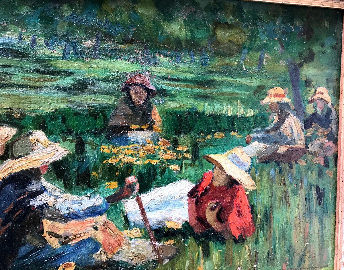 Table, Peasants Resting In The Fields, Spanish School, Early Twentieth-photo-1