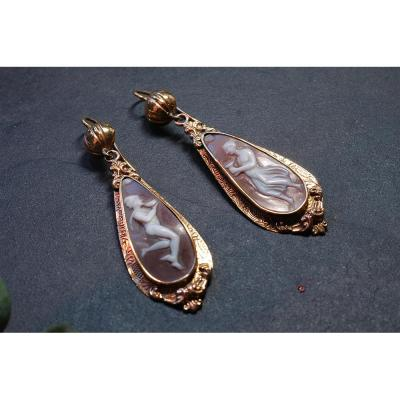 Pair Of Earrings And Cameos