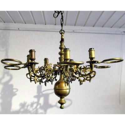 Petit Lustre Hollandais, En Bronze