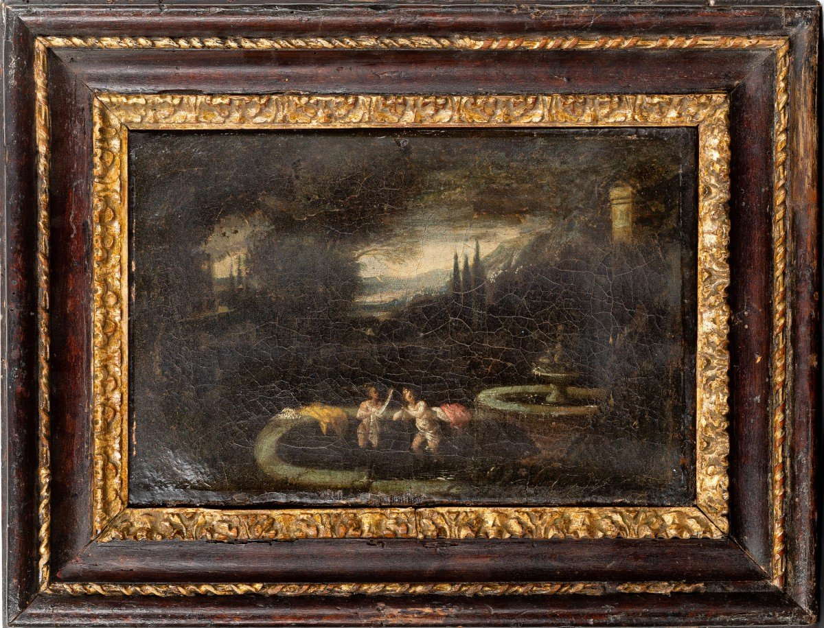 Pair Of Roman Landscapes (17th Century Paintings)
