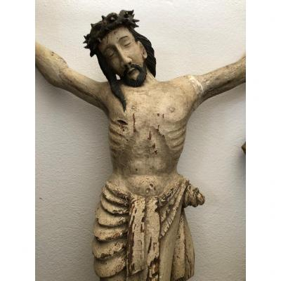 End Of The XVIth Century Jesus Christ On Crucifix