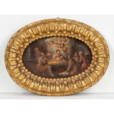 Nativité - Ippolito Scarsella / Scarsellino (Peinture XVIème Siècle)