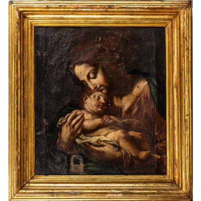 Madonna With The Child Jesus - Workshop Of Carlo Cignani (17th Century Painting)