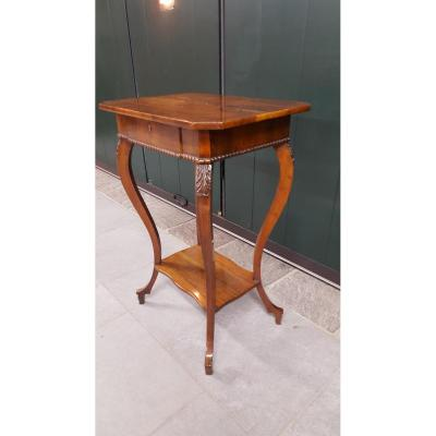 Table Basse En Noyer Biedermeier