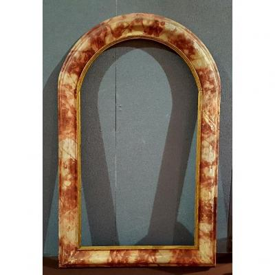 Faux Marble Lacquered Frame
