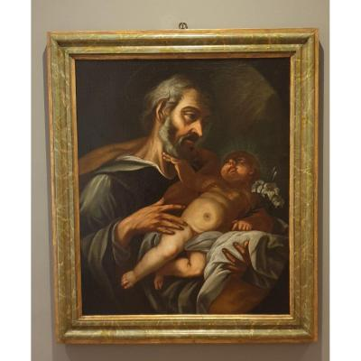 Oil On Canvas From 600 Representative Saint-joseph With Child