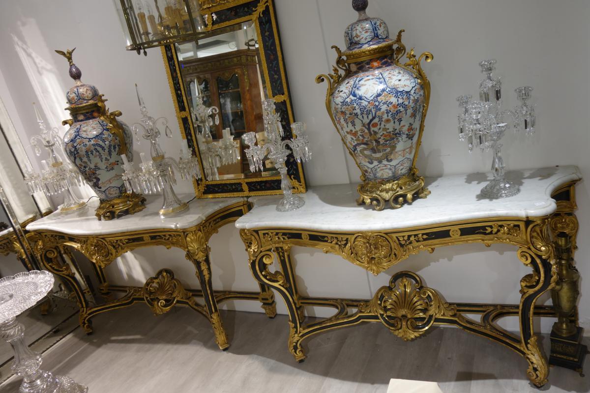 Consoles Jeanselme & C° Style Louis XV