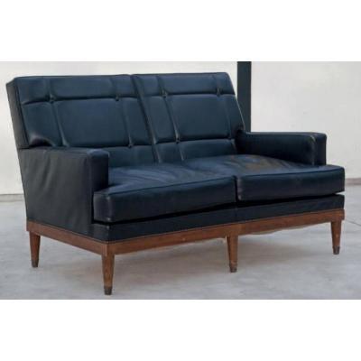 Canapé en cuir de La Maison Jansen Circa 1960