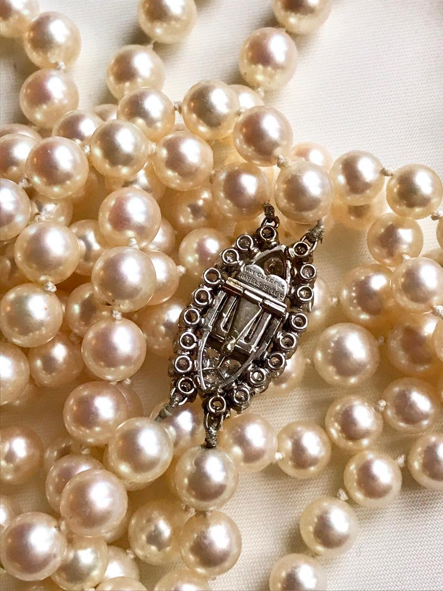 Necklace Pearl Necklace 2 Rows Van Cleef & Arpels-photo-4
