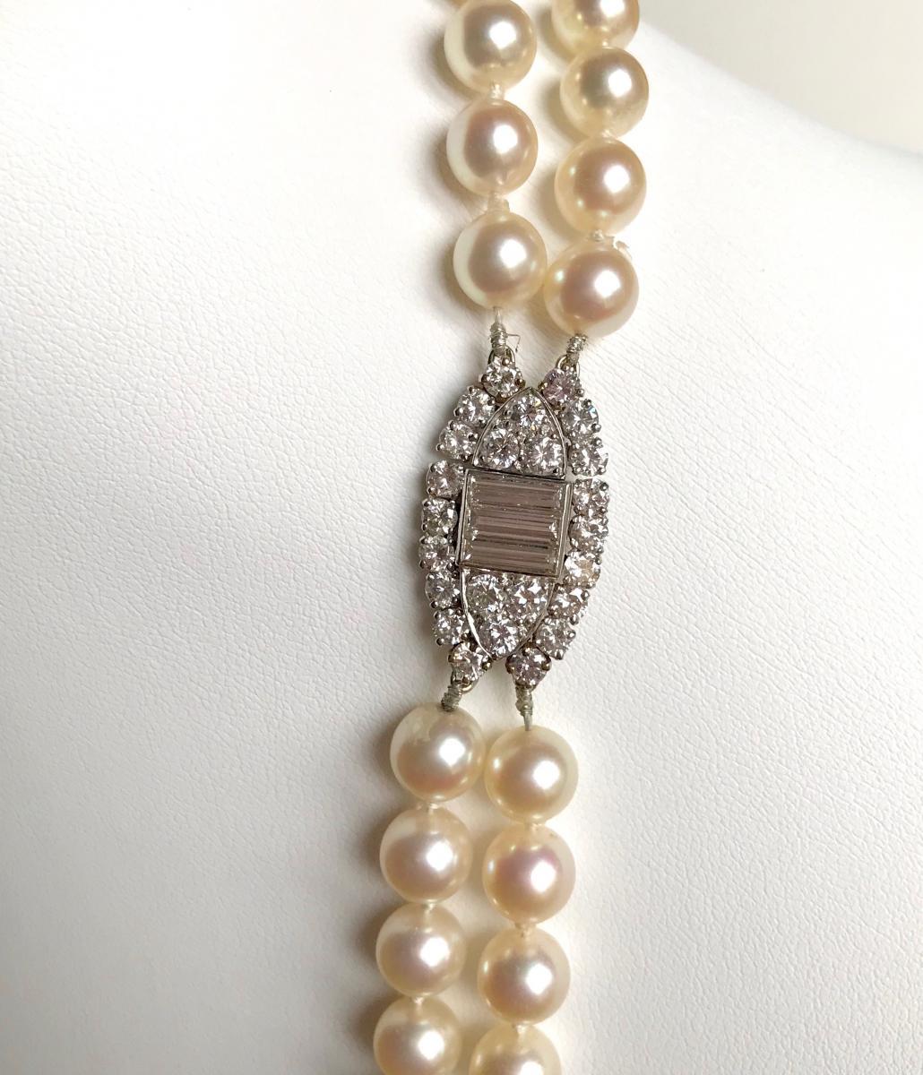 Necklace Pearl Necklace 2 Rows Van Cleef & Arpels-photo-2