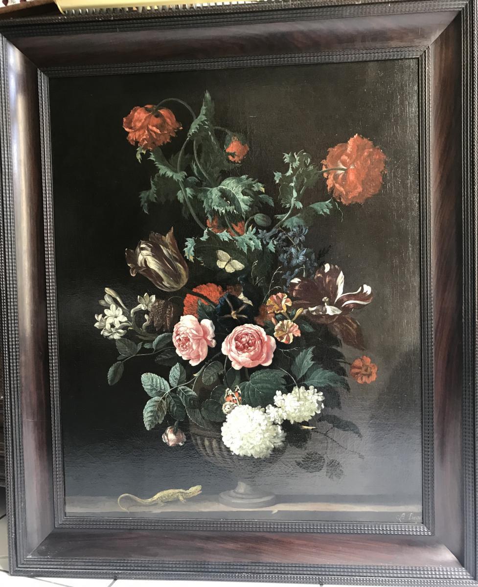 Abraham Begeyn, Flower Vase Circa 1670-photo-2