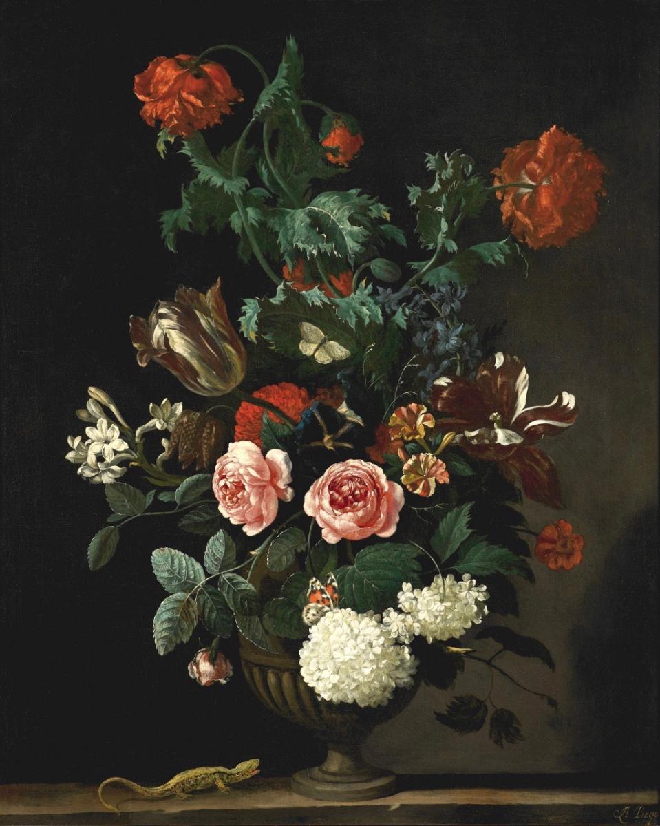 Abraham Begeyn, Flower Vase Circa 1670-photo-1