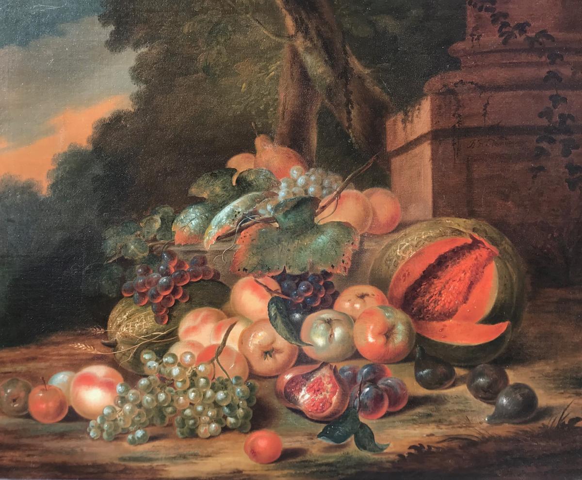 Robert Van Der Myn (1717-1781) Nature Morte Aux Fruits
