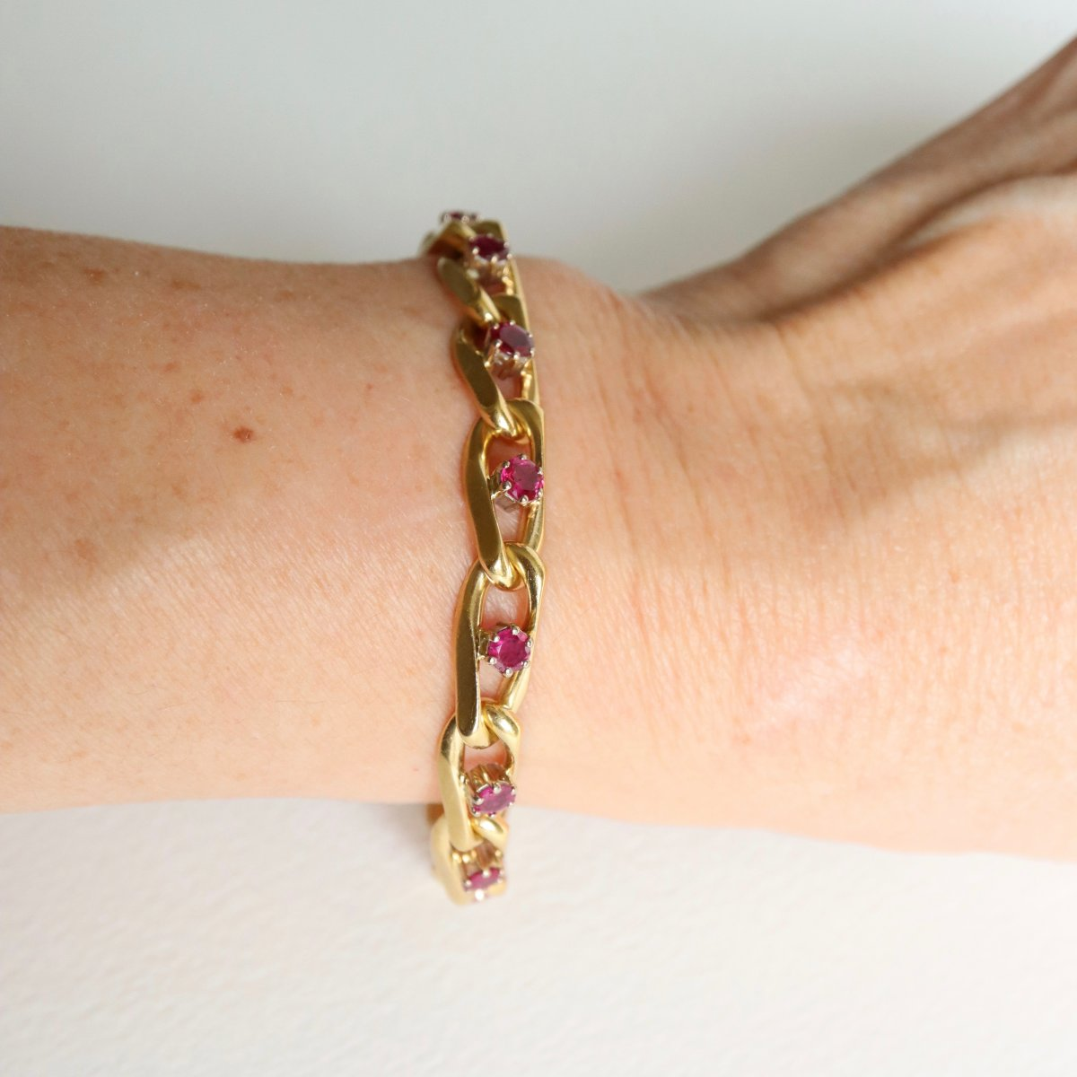 Chaumet Bracelet In 18kt Yellow Gold And Ruby-photo-1