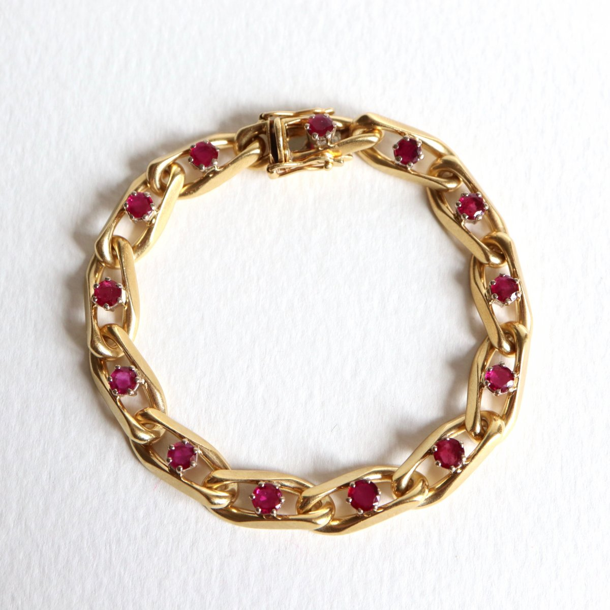 Chaumet Bracelet In 18kt Yellow Gold And Ruby-photo-2
