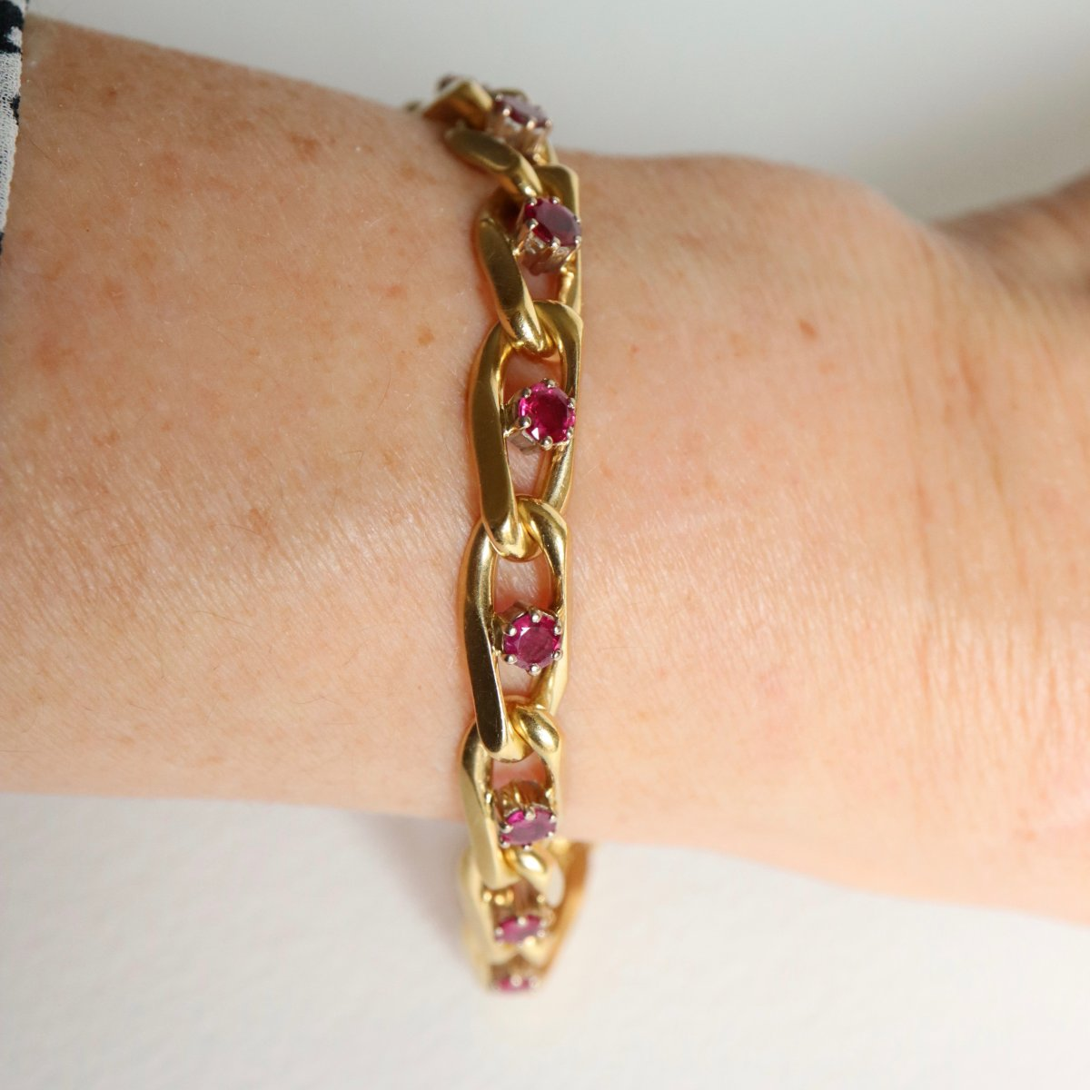 Chaumet Bracelet In 18kt Yellow Gold And Ruby-photo-3