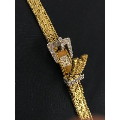 KUTCHINSKY Montre Femme à Secret En Or Jaune 18 kts Et Diamants