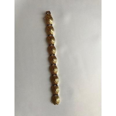 Bracelet Boucheron Or Jaune Saphirs Et Diamants