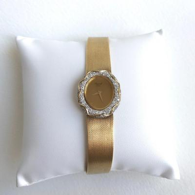 Chopard Ladies Mechanical Watch For Kutchinsky In 18k Yellow Gold And Diamonds