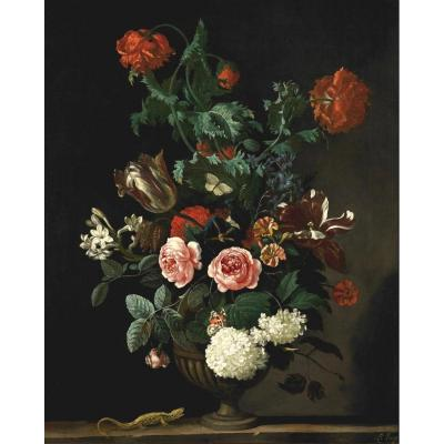 Abraham Begeyn, Flower Vase Circa 1670