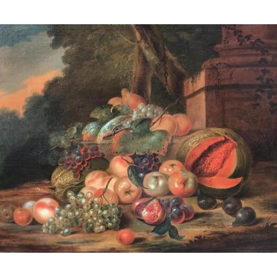 Robert Van Der Myn (1717-1781) Nature Morte Aux Fruits