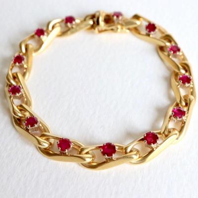 Chaumet Bracelet In 18kt Yellow Gold And Ruby