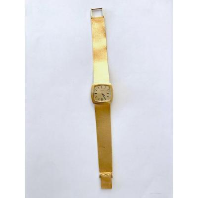 Movado Mechanical Ladies Watch Circa 1960 In 18k Yellow Gold