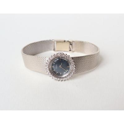 Zodiac Ladies Watch In 18 Kt White Gold And Mechanical Diamonds