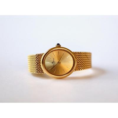 Baume Et Mercier Lady's Bracelet Watch In 18 Kt Yellow Gold 1960