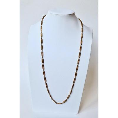 1960's 18k Yellow Gold Long Necklace