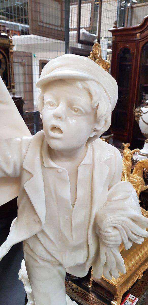 Gavroche Sculpture Marbre  -photo-3